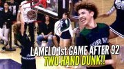 LaMelo-Ball-EASY-Buckets-Two-Hand-Dunk-Warm-Ups-1st-Game-Since-92-Points-Chino-Hills-vs-Rancho-attachment