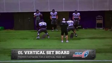 Northwestern-Wildcats-vertical-set-board-drill-Offensive-line-attachment