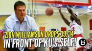 Zion-Williamson-BULLIES-His-Way-to-39-14-in-Front-of-KUs-Bill-Self-Raw-Highlights-attachment