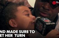 Martellus-Bennetts-adorable-daughter-dominated-his-press-conference-attachment