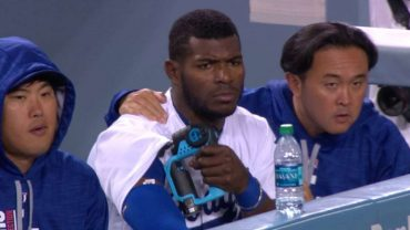 Puig-receives-massage-treatment-in-dugout-attachment