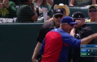TEX@OAK-Banister-ejected-for-arguing-foul-ball-attachment