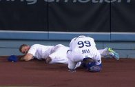 STL@LAD-Puig-hangs-on-during-collision-with-Pederson-attachment