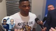Russell-Westbrook-trolling-Kevin-Durant-with-Adopt-a-Cat-shirt-Jalen-Jacoby-ESPN-attachment