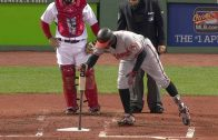BAL@BOS-Jones-struggles-to-remove-weight-from-bat-attachment